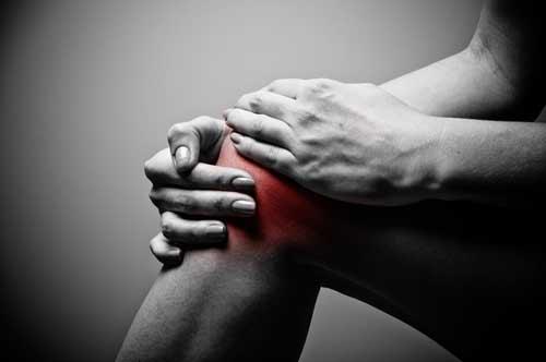 Darstellung von Schmerzen im Knie