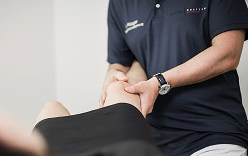 Untersuchung von Kniebeschwerden