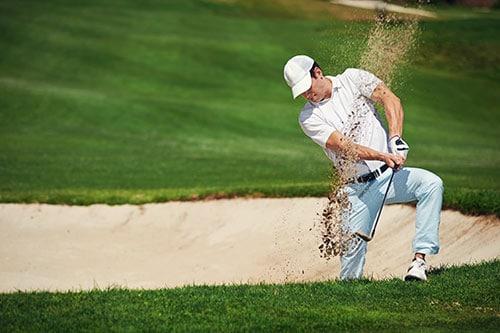 Golfer Abschlag
